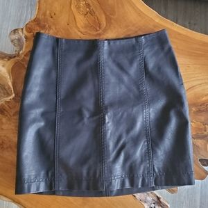 Free People mini skirt - vegan leather